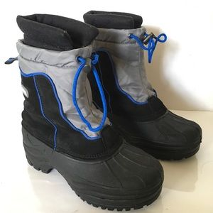 Totes Rubber Suede Insulated Winter Boots Black 7M